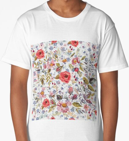 Sea of Floral Long T-Shirt