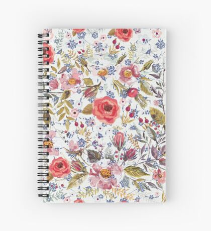 Sea of Floral Spiral Notebook