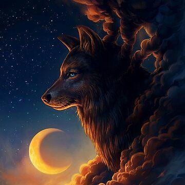 Foggy wolf by Rajaljain
