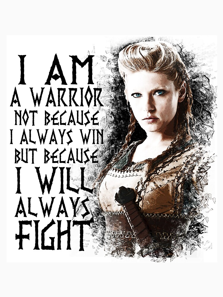 Vikings Lagertha I Am A Warrior Womens Fitted Scoop T Shirt