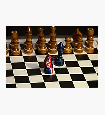 chess game Great Britain and the European Union Photographic Print