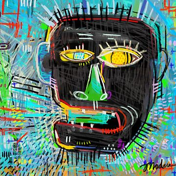 Graffiti, Street Art, Screaming Head by madaramason