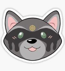 Lexa Raccoon Head Sticker