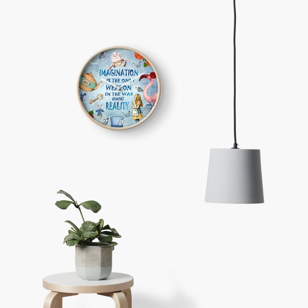 Alicia en el país de las maravillas - Imagination Quote Reloj