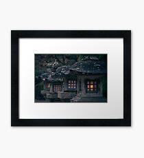 Lanterns at the Koyasan Framed Print