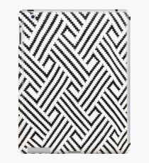 minimalist balck and white houndstooth herringbone pattern iPad Case/Skin