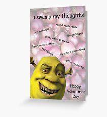 Shrek-Valentinsgruß-Karte Grußkarte