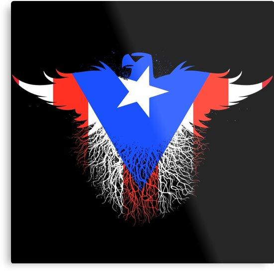 Puerto Rico Rican Flag Flat Graphic Design Inside Eagle By Scott Sakamoto