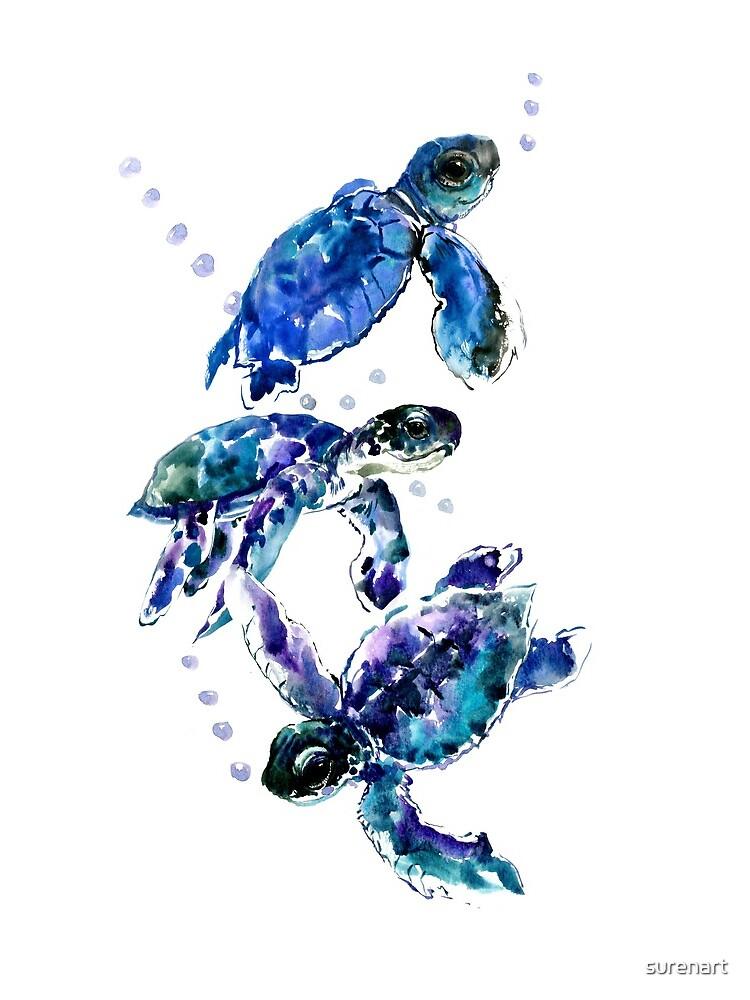 Three Sea Turtles by surenart