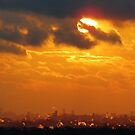 New York City Winter Sunset by Alberto  DeJesus