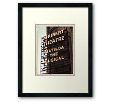 Shubert Theatre, Broadway, NYC- Matilda The Musical - Kodachrome Postcards  Framed Print