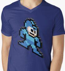 8-bit Isometric 03 - Megaman - Megaman Men's V-Neck T-Shirt
