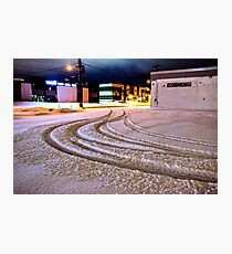 Tracks in the Snow Photographic Print