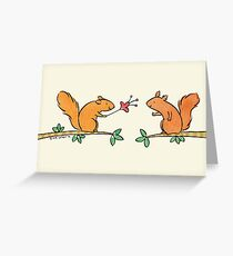 Tickle Tickle Little Squirrel Greeting Card
