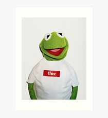 Supreme Kermit Thicc Shirt Art Print