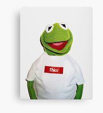 Supreme Kermit Thicc Shirt Canvas Print