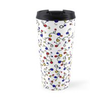 Roots Pattern: Primary Colours Travel Mug