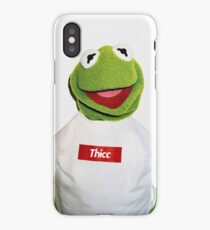 Supreme Kermit Thicc Shirt iPhone Case/Skin
