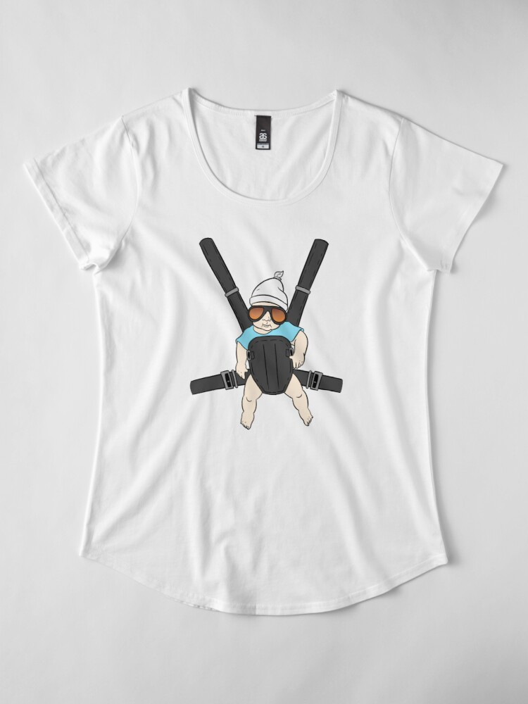 Alternate view of Hangover Baby Tshirt - Alan & Bjorn - Hangover The Movie Premium Scoop T-Shirt