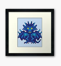 Dragon Punch pixelated character Framed Print