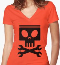 Jolly Wrenches - Planes Women's Fitted V-Neck T-Shirt