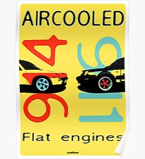 Aircooled flat engines 5 Poster