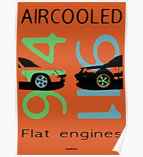 aircooled flat6 engines colored 3 Poster