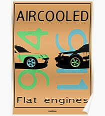 aircooled flat6 engine colored 2 Poster