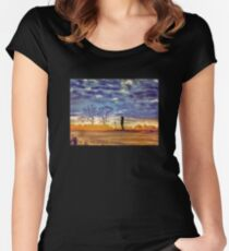 Sunset Contemplation Women's Fitted Scoop T-Shirt