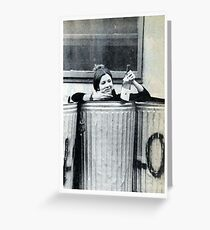 Carrie Fisher In A Bin Greeting Card