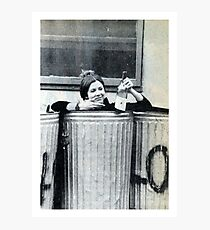 Lámina fotográfica Carrie Fisher en un contenedor