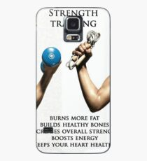 Strength Training Benefits - Women's Fitness Infographic Case/Skin for Samsung Galaxy