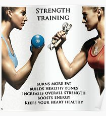 Strength Training Benefits - Women's Fitness Infographic Poster