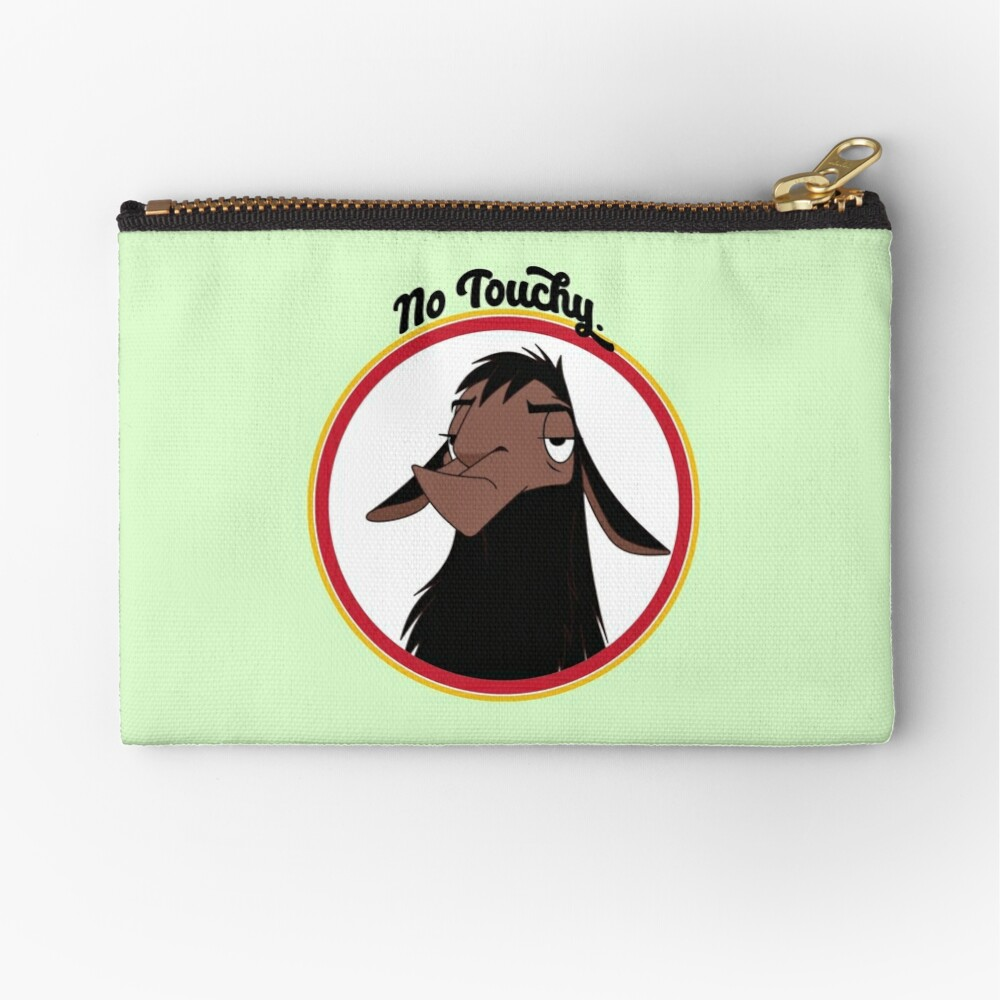 Kuzco NO TOUCHY sad llama emperor's new groove emperor david spade back off no touch funny gift Zipper Pouch