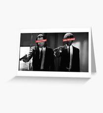 Jules & Vincent - Pulp Fiction Greeting Card
