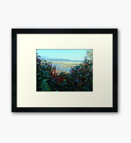 Cape North and Marshlands Framed Print