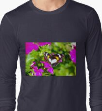 Lady Butterfly Visitor Long Sleeve T-Shirt