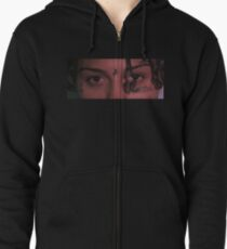 LIL SKIES HIQH QUALITY RENDER / CLOSE UP PHOTO / PICTURE OF LIL SKIES EYES / FACE Zipped Hoodie