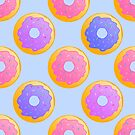 Donut pattern with pink, blue and purple icing. by JustTheBeginning-x (Tori)