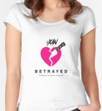 LIL XAN BETRAYED OFFICIAL COVER HIGH QUALITY RENDER Women's Fitted Scoop T-Shirt