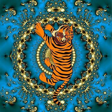 sideways tiger by happymigrane