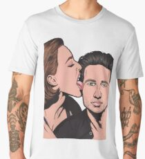 Mulder and Scully X Files Men's Premium T-Shirt