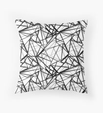 Black and white abstract geometric pattern . Throw Pillow
