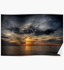 December Sunset at Herring Cove Poster