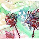Watercolor Roses by ButtercupSaiyan