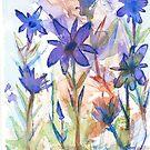 Impressionist violets by ButtercupSaiyan