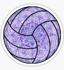 Purple Volleyball Sticker
