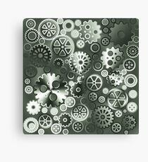 Steel gears Canvas Print
