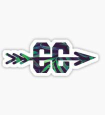 Cross Country Logo - Leaf Sticker