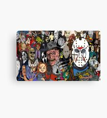 horror movies Collage Canvas Print